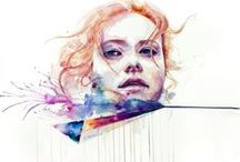 Artwork - Watercolor Faces  / by Gina Grimm