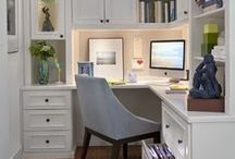 Office Design | Maximize Space | Maximize Style | Efficient / Interestig and creative ideas for an efficient and stylish home office.