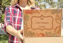 My Christmas Crate / Christmas crates deliver Christmas joy year round from tastes, scents and all the yummy Christmas magic delivered right to your doorstep! www.mychristmascrate.com