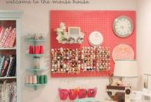 Scraprooms & Organisation  / Ideas for decoration and organization of your scrap- and craft room