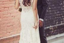 wedding dress/hair/make-up