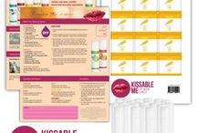 "Kissable Me Lip Balms / http://eo.tools Enjoy making natural, non-toxic lip balms using the  ""Kissable Me"" Lip Balm DIY Kit #lipbalm #diy #recipe #labels #tearpad #essentialoils #doterra #youngliving"