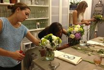 Flower School / Private classes for small groups in our studio, or larger parties arranged to suit. Learn how to make your own unique flower creations and see inside the life of a professional floral designer.