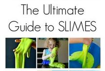 Slime, slime, slime / Recipes to make slime/activities that use slime (and clean mud) for early childhood settings. Tactile/sensory activities for learners.