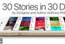 30 In Thirty / 30 in Thirty downloadable app delivers one short story a day for 30 days on the iPhone and Android platforms starting Nov 2015. Anthony has brought in great actors to read and bring to life his spin on mobile short stories. Cyrus Farmer known for his work in CSI, Notorious, The Wire, Oz and Mela Lee, known for her work on Power, Pirates of the Caribbean, House of Lies and Gotham bring six of the short stories to life on video.