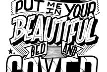 Poster typographie / Affiches et posters avec de la belle typographie