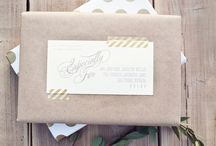 Paper packages tied up with string... / Pretty package inspiration.