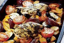 Mediterranean recipes / Seafood, beef, chicken, veg, rice, noodles