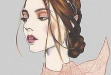 ✘  PORTRAIT FASHION ILLUSTRATIONS