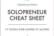 Solopreneur / Tips to help solopreneurs thrive and grow their business