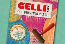 Gelli Arts® Products! / This board is an overview of all the Gel printing plates we have created to make Monoprinting more convenient and more fun!