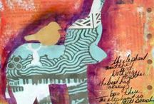 Art Journal Inspiration / ideas for art journaling and examples of journal pages that are visually or verbally intriguing!