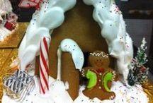 Making Gingerbread Houses at O&H Danish Bakery