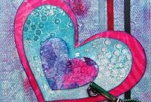 Valentines with Gelli® !! / Valentines made using a Gelli printing plate or printed papers and great ideas or tutorials for artsy valentines! / by Gelli Arts®
