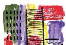 Digitally Altered Gelli® Prints