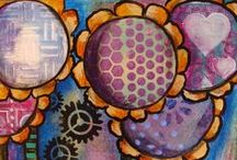 Doodling on Gelli® Printed Papers / A great place to look for both doodle inspiration and examples of doodled Gelli Prints!