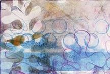 """BIG 12"""" x 14"""" Gelli® Printing Plate Prints and Blog Posts! / If you are looking for ideas on printing with our largest 12"""" x 14"""" Gelli plate - this is the board for you!"""
