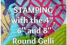Stamps, Stencils & Masks for Printmaking with Gelli® Plates! / Stamps and Stencils make for great designs and texture in your gelli printing process! The ghost print from the stencil or stamp design is often the best print!!