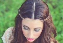 Novias: Cadenas para el cabello (Chain Headpiece) / Diferentes complementos para el cabello de la novias.