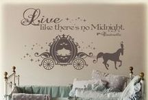 room ideas / Stuff that i want in my room like wall quotes, wallpaper, fairy lights, etc.