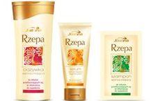 Turnip line / Seria Rzepa to nowoczesne kosmetyki oparte na znanych i cenionych przez medycynę ludową wyciągach z czarnej rzepy i ziołach. Produkty z serii Rzepa działają jak parafarmaceutyki, przeznaczone są do włosów przetłuszczających się, delikatnych, osłabionych, ze skłonnością do łupieżu i wypadania. Pomagają skutecznie pielęgnować włosy i skórę głowy z łojotokiem, łupieżem i świądem.