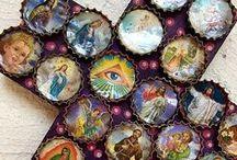 Croix avec de capsules