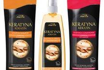 Keratin / Nowa pielęgnacyjna seria Keratyna przeznaczona do włosów suchych, zniszczonych, łamliwych oraz matowych. Wypróbuj i poczuj różnicę!