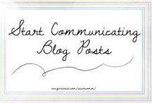 Start Communicating Blog Posts / This pin board is a collection of all our blog posts over at www.startcommunicating.blogspot.ca!