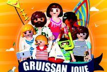 Gruissan playmobil / Gruissan joue aux playmobil chaque année en novembre. Salon, exposants, ventes, dioramas