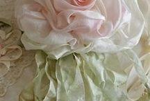 цветочки из лент, тряпочек, кожи, бумаги,.....