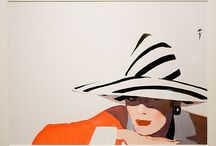 Greatest - Rene Gruau / Fashion illustrations to blow your mind, economy of line, brilliant colours, inspirational compositions and stunning ladies If David Downton is a 10 out of 10, which he certainly is, Then Rene is an 11