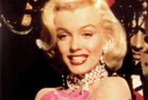 """Memorable Marilyn Monroe / The ultimate goddess especially in """"Diamonds are a Girls best Friend"""" I love what she has on in bed!?! / by Terry Glazebrook"""