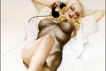 Vivacious Alberto Vargas / Sexy Illustrator par excellence, 30's/40's/50s pin up girls, masterful technique, beyond beautiful babes. Also Gil Evren & Rolph Armsrong