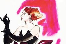 Lacivious Antonio Lopez / Fashion illustrator who with Rene Grau & David Downton formed the most magnificent  trio of stylish & skillfull designers & Illustrators to ever grace the fashion pages of the most prestigious magazines in the world.
