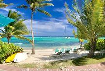 Villa Pura Vida Guadeloupe en front de mer à Saint François / Villa de luxe en Guadeloupe pour 10 personnes les pieds dans l'eau. le golf 18 trous de Saint François accolé à la Villa