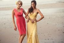 Bridesmaids Pink and Yellow Ideas / Theme: Pink and Yellow
