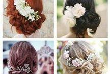 Wedding Hair-Styles / Wedding hair do up's, hair down and hair how to