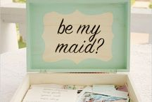 Be My Maid / Brides maid invitation & accessory ideas etc