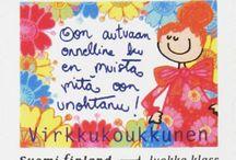 Postimerkit / Merkillinen Virkkukoukkusen suunnittelema omakuva 1. luokan postimerkki :)
