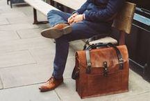Leather bags - Gents / Inspiration for men's leather bags.