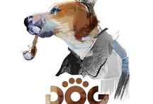 Dog petfood packaging / Series of illustrations, logo and product designing for a dog food brand.