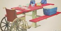 Wheelchair Accessible & ADA Compliant Products /  R.J. Thomas Mfg. Co. has been working since before 1990 when the Americans with Disabilities Act (ADA) was passed, to develop wheelchair accessible products so people of all abilities can Enjoy the Outdoors