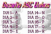 Desafio ABC Unhas / O desafio consiste em usar esmaltes que tenham nomes começados com a letra de cada dia!! ^^