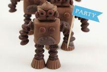 Recepten om te maken / Mmm...  Lekker chocolade robotjes Schattig