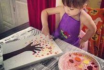 Childrens craft and learning / Idéer för pyssel