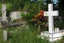 Cementerios / Lugares diversos donde se entierran o incineran a los difuntos, según las diversas creencias