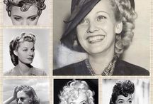 Det här med hår / Vintage hair, pin curls, 30s 40s 50s, hair accessories, finger waves, but mostly Marilyn Monroe