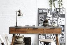 ▲ Office & Workspace / Office and Workspace Decor Inspirations et conseils pour aménager son coin de travail, son bureau. http://auriginalite.com