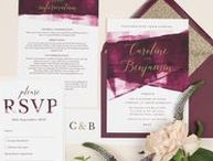 Design Suite // Berry and Gold 'Grace' wedding stationery collection