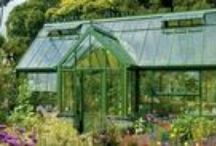"Greenhouses, Conservatories & Garden Sheds / ""Who loves a garden loves a greenhouse too."" ~William Cowper (1731-1800) English poet.  ""Mrs White did it, in the conservatory, with the rope""  ~CLUE (a mystery board game) created in 1948 by Anthony E. Pratt from Birmingham, England.   ""Greenhouse gardening. Spoiling winter's grip at last. My plants party on."" ~'Plant Party' by Jennifer Ebeling (2013).  ""Whichever garden tool you want is always at the back of the shed."" ~Anonymous"